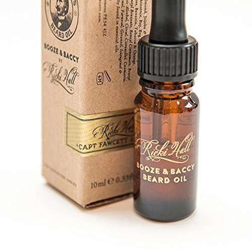 Captain Fawcett Ricki Hall's Booze & Baccy Beard Oil 10ml by Captain Fawcett's