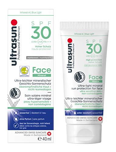 Ultrasun Face Mineral Protezione solare leggero per la faccia (SPF 30) -40ml.