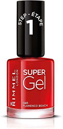 Rimmel Smalto Unghie Super Gel - Nail Polish Effetto Gel a Lunga Durata - 045 Flamenco Beach - 12 ml