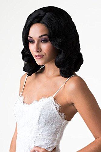 Annabelle'S Parrucche A Nero, DITA Von Teese Stile anni '40, parrucca ondulata: DITA 200g
