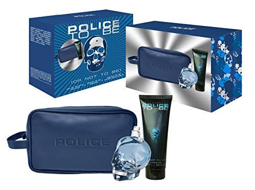 POLICE TO BE eau de toilette EDT 125 ml set profumo+shampoo+beauty case uomo idea regalo