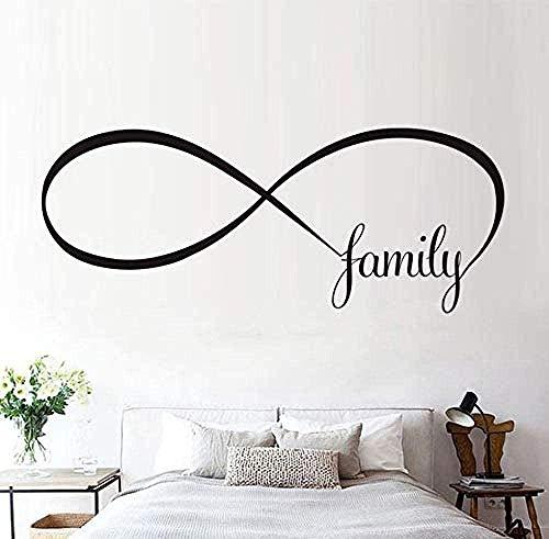 Adesivi murali decorazione tatuaggio murale decalcomanie famiglia dal design semplice significano colla amore infinito per soggiorno 105X42cm