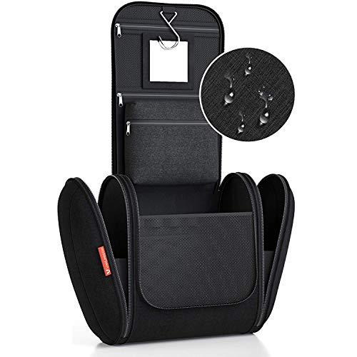 Borsa da Bagno Extralarge (XXL) [Capacità 8 litri] Borsa da Toilette per Uomini e Donne Beauty Case per Uomo e Donna Pochette da Viaggio per Uomini e Donne, con gancio appendiabiti