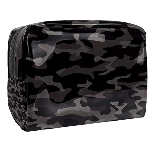 Beauty Case Camouflage Camo Grey Cosmetici Borsa da Viaggio Portafogli da viaggio Beauty Case Toiletry Bag Borsa a mano Porta monete 18.5x7.5x13cm