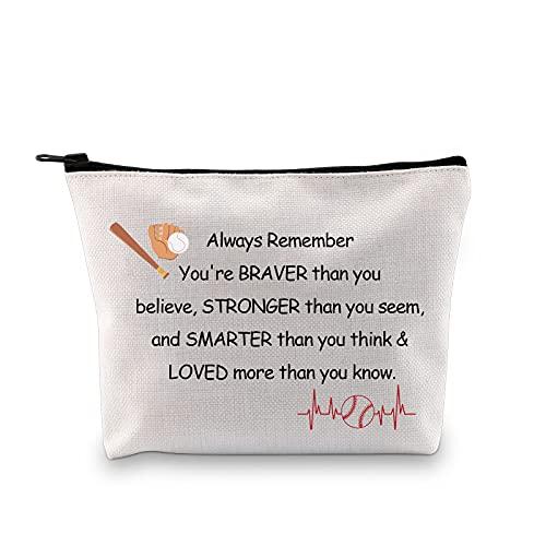 Baseball Zipper Pouch Baseball regali per le donne Baseball Makeup Bag Cosmetici Sacchetto Regali per Baseball Mamma Baseball Lover Giocatori Regali Toiletry Bag, colore: Borsa da baseball