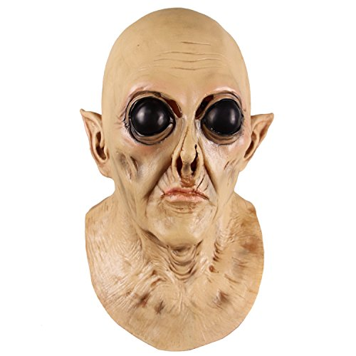 Maschera aliena UFO di Orrore, Maschera Raccapricciante in Lattice di Lattice, Maschera di Decorazione del Partito di Costume di Halloween