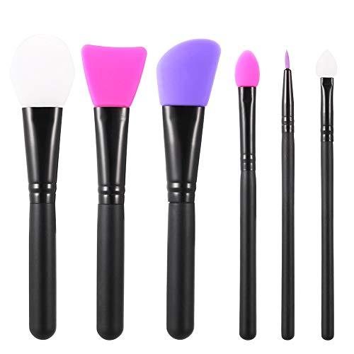 Opopark 6 Pezzi Pennello Maschera Facciale Applicatori Cosmetici in Silicone Pennelli per Trucco Viso Maschera di Fango Fai-da-te Strumento di Bellezza