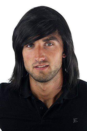 Wig Me Up - Parruca Colore Nero Da Uomo, Lunga, Giovanile, Alla Moda, Gfw892-2