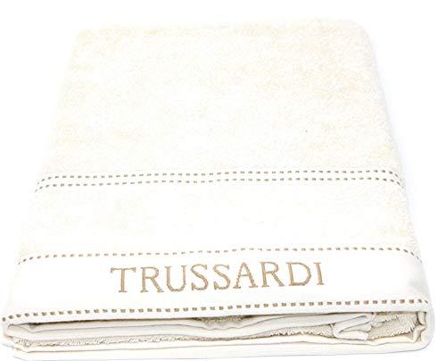 Trussardi Home Linen Telo Bagno in Pura Spugna idrofila Art. Ribbon cm. 100x150 (Ivory 810 (Avorio))
