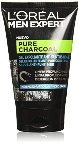L'Oréal Paris Men Expert Scrub Esfoliante Viso Detox Pure Charcoal, Formula Arricchita con Carbone Vegetale, 100 ml