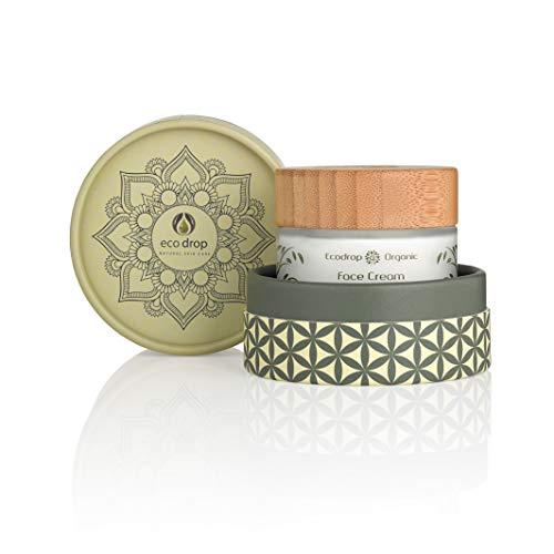 Ecodrop Organic Face Cream | Crema avanzata viso donne non grassa per la cura quotidiana | Realizzata con ingredienti 100% naturali | Trattamento idratante e anti invecchiamento | Vegana
