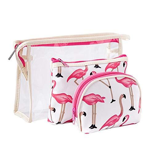 3 SET Impermeabile Beauty Case da Viaggio Borsetta da Viaggio Organizzatore Borsa da Toilette Portatrucchi Make Up Borsa Trucco di Caso Cosmetico Borsa Sacchetto Wash Bag Borsa Lavaggio Borsa