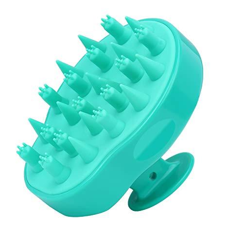 FReatech Aggiornato Spazzola Shampoo per Massaggio alla Testa con 2 Tipi Setole in Silicone, Cura per Cuoio Capelluto Sensibile e Delicato, Esfoliazione Delicata e Stimola Crescita Capelli, Verde