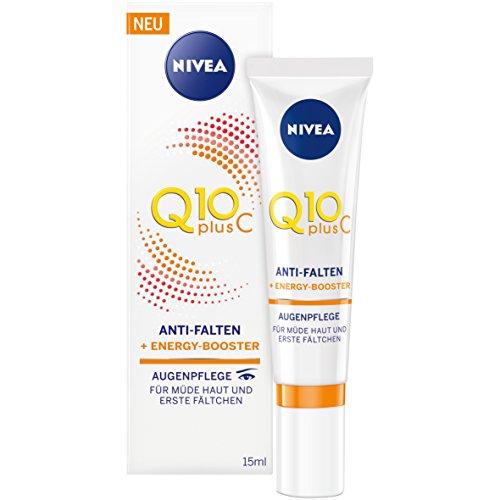 Nivea Q10plusC - Crema antirughe e integratore energetico per contorno occhi, 1 tubetto da 15 ml