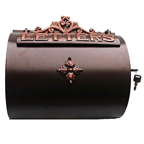 LUYIYI Fusion d'alluminio Artigianato Parete Letter Box Mailbox battuto Letter Box Ferro Villa Tatuaggi
