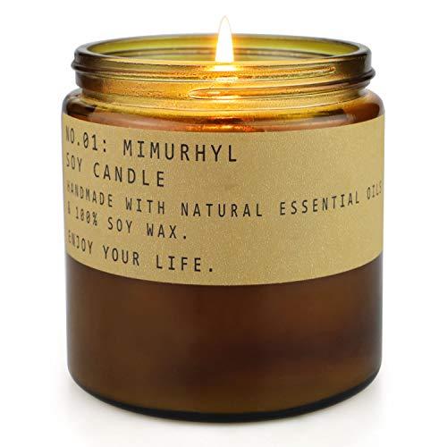 TOFU Candele profumate, Candele per aromaterapia Cera di soia Naturale con Oli Essenziali Candela Regalo per Donne, 1 Confezione / 23 OZ (Amber Moss)