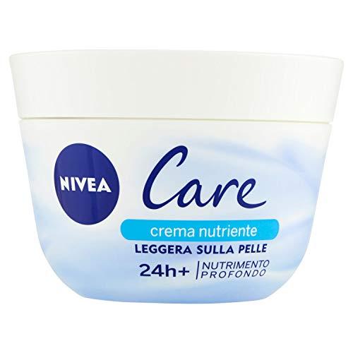 NIVEA Care Maxi Nutrimento Profondo (1 x 400 ml), Crema nutriente leggera sulla pelle, Crema multiuso per viso e corpo, Formula idratante con Microsfere di Cera ad Idrodispersione