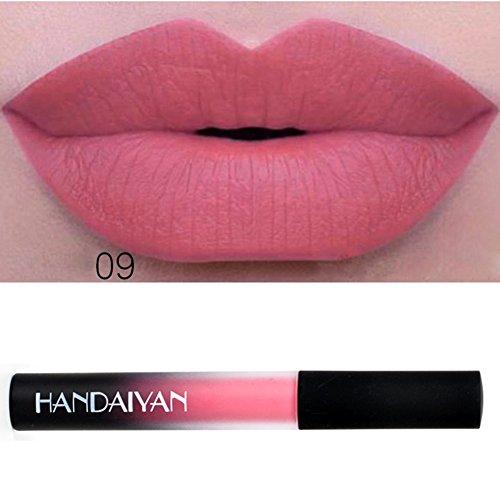 Zetiling 12 colori Matte Lipgloss, Matte Lipstick, Lipgloss Rossetto liquido impermeabile a lunga durata Cosmetici per il trucco(#9)
