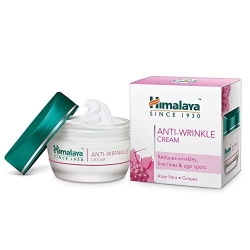 Himalaya Herbals Anti-Wrinkle Cream 50g   Previene le rughe, idrata e energizza il viso   Trattamento naturale per una pelle luminosa ed incandescente (Anti-wrinkle Cream)
