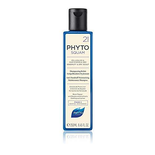 Phyto Phytosquam Shampoo Antiforfora Idratante, Ottimo per Forfora e Cuoio Capelluto Secco, Formato da 250 ml
