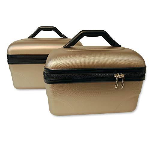 2 Valigie robusti | trolley rigidi | beauty case Rigido Light - Bagaglio a mano 30 e 35cm colore champagne