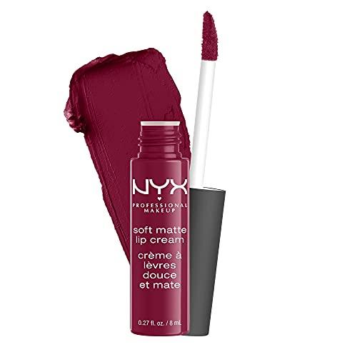 NYX PROFESSIONAL MAKEUP Soft Matte Lip Cream Rossetto, Finish Matte e Cremoso, Colore Extra-Pigmentato, Long Lasting, Tonalità Copenhagen