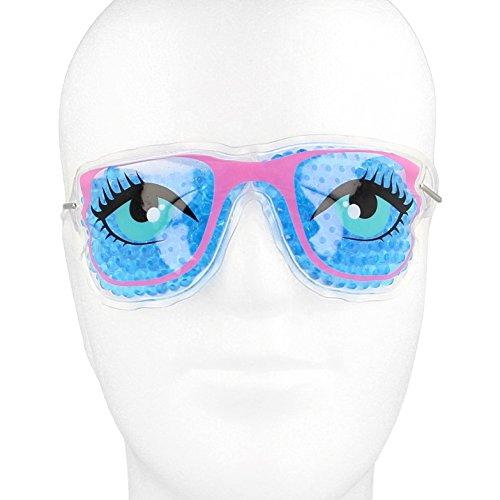 Occhiali refrigeranti per gli occhi con perle colorate in gel in design fresco con nastro di fissaggio - Occhiali RB Brilleu emicrania maschera rinfrescante occhi rinfrescante occhiali