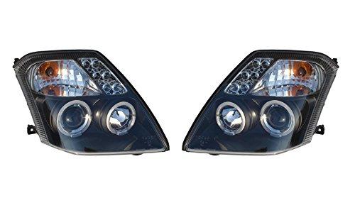 Trupart Citroen C22003–2010Black Angel Eye Halo proiettore fari lampade Pair + Free Ultimate Styling Deodorante