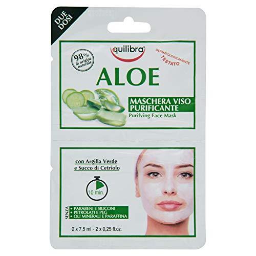 Equilibra Aloe Maschera Viso Purificante, 2 monodose