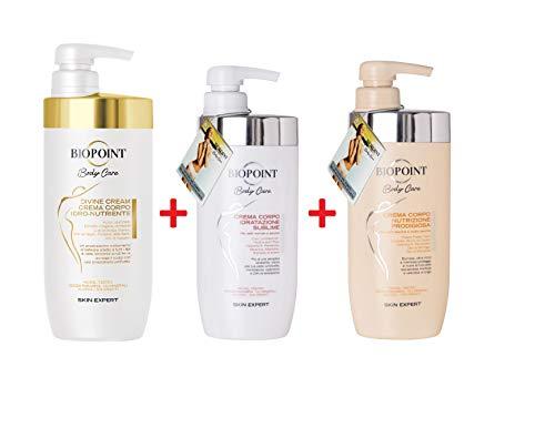 Biopoint Body Care Crema Corpo Divine Cream 500ml e Crema Corpo Nutrizione Prodigiosa 500ml e Crema Corpo Idratazione Sublime 500ml