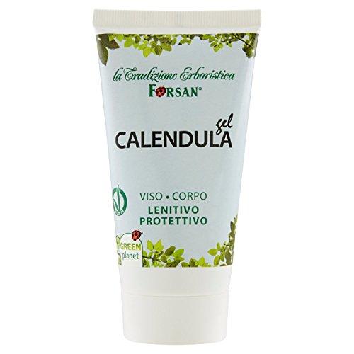 La Tradizione Erboristica Forsan - Gel Calendula per viso e corpo, Lenitivo e protettivo, 50 ml