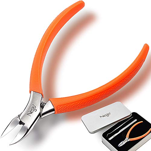 Tagliaunghie per unghie spesse e incarnite, acciaio inox chirurgico, 12,7 cm, grande manico per una facile presa, lima per unghie dei piedi, ottimo strumento per pedicure, perfetto per tut