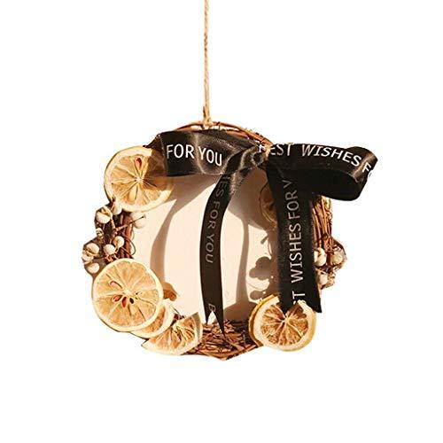 Decorazioni natalizie Creativo fetta di limone Corone casa della decorazione Corone decorazioni di festa decorazioni d'attaccatura di porte e finestre Tatuaggi . Ghirlande della porta ( Size : 15cm )