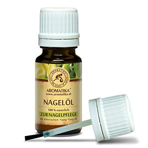 Olio per Unghie e Cuticole 10ml per Crescita delle Unghie - Rinforzante per Unghie Fragili - Cura dell'Unghia con Olio di Limone al 100% Naturale - Olio di Ylang Ylang - Jojoba e Semi D'Uva