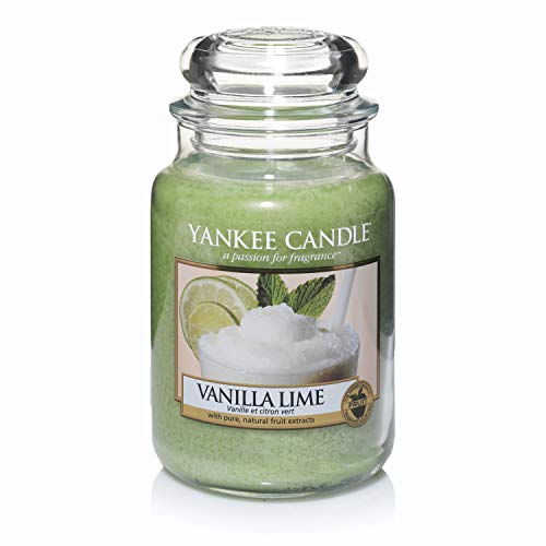 Yankee Candle 1106730E - Candela profumata Vaniglia e Lime, Fino a 150 ore, Giara grande (10.7 x 16.8 cm)