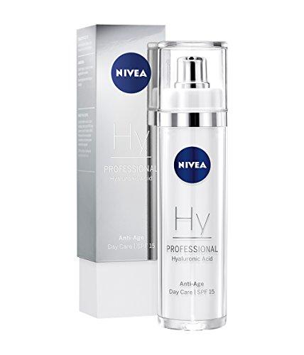 NIVEA PROFESSIONAL Acido Ialuronico, crema giorno con protezione solare SPF 15, Innovativa cura del viso anti età e anti rughe, protezione contro l'invecchiamento del viso, 1 x 50 ml
