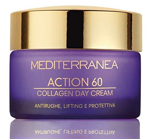 Mediterranea - Crema Giorno Viso Action 60 con Alga Bruna, Effetto Antirughe Antiage - Idrata, Tonifica e Distende le Rughe - 50 ml