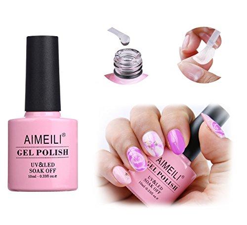 AIMEILI Blossom gel Smalto Semipermanente per Unghie Soak Off UV LED in Gel Trasparente Magic Blooming Beautiful Flower Nail Art
