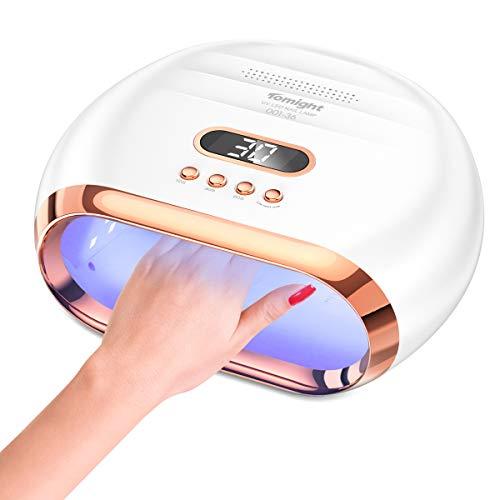 Lampada Unghie UV, tomight Lampada Gel Unghie LED da 72W per Manicure/Pedicure con Automatico Sensore, 3 Timers da 10/30/60, Display LCD per Salone e Uso Domestico