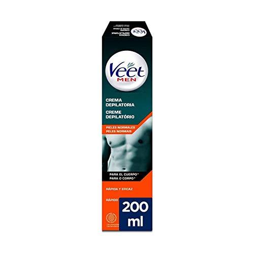 Veet Men, Crema Depilatoria Uomo, Pelli Normali, 200 ml