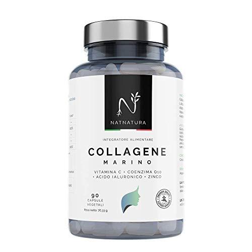 Collagene marino idrolizzato. Collagene con Acido ialuronico + Coenzima Q10 + Vitamina C + Zinco. Energia, pelle sana e articolazioni forti