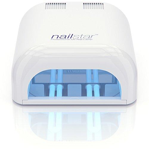 NailStar™ Lampada Professionale UV Asciuga Smalto (36 Watt) con Timer da 120 e 180 Secondi per metodi curativi Shellac e Gel. Include 4 x Lampadine da 9W