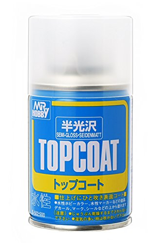 TOPCOAT Gundam Mr. Hobby Top Coat Semi-Gloss NET 88ml. Spray