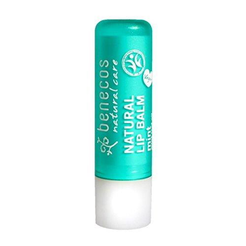 BENECOS Lip Balm Mint - Balsamo Labbra Idratante e Lenitivo - Labbra Secche e Screpolate - Gusto Menta - Vegan - 4,80 gr