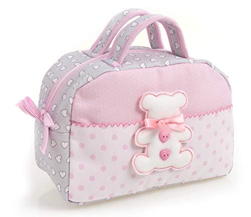 FILET AMA1718R Beauty Case, Rosa/Grigio/Bianco
