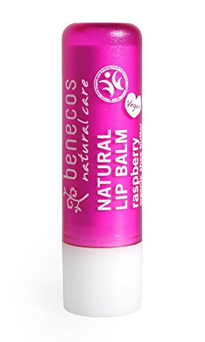 BENECOS Lip Balm Raspberry - Balsamo Labbra Idratante e Lenitivo - Labbra Secche e Screpolate - Gusto Lampone - Vegan - 4,80 gr