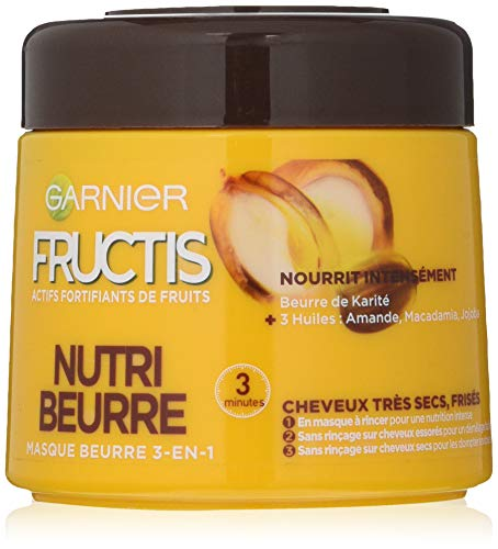Garnier Fructis maschera Nutri Beurre 3 in 1 da300ml, (lingua italiana non garantita)