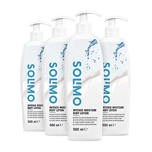 Marchio Amazon - Solimo - Lozione idratante intensa corpo (4x500ml)
