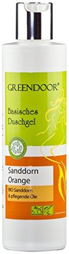 Greendoor gel doccia alcalina mare olivello spinoso-Orange 250ml - dalla fabbrica di cosmetici naturali, senza solfati, senza silicone, senza conservanti