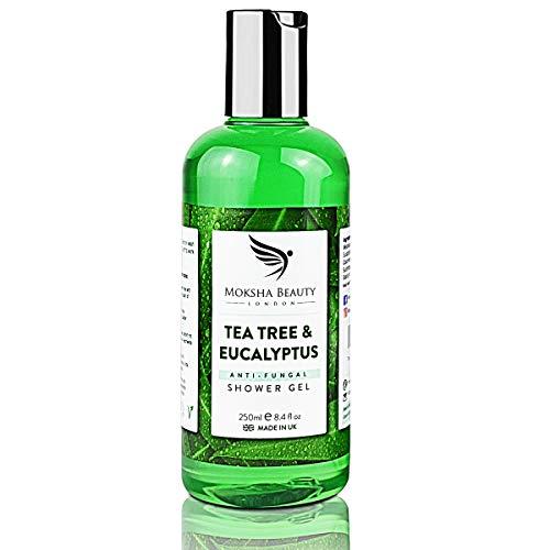 Gel Doccia Sapone Tea Tree con Olio di Melaleuca – Bagno Detergente Antimicotico Naturale Antiodore Eficace Contro Acne Tina Micosi Ingunale e Ungueale per Piedi di Atleti Donna Uomo Regalo